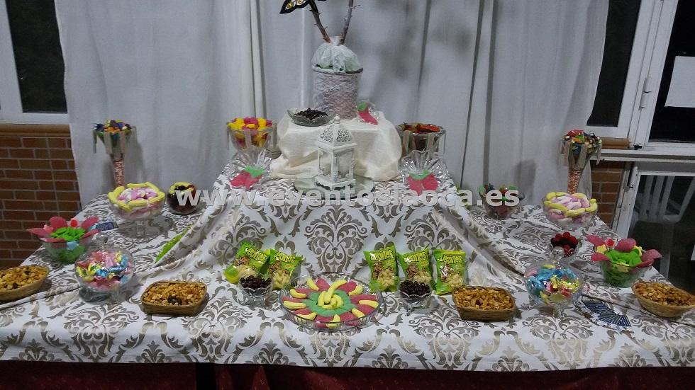 buffet de chucherias y frutos secos
