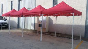 Carpas de 2x2 metros en rojo